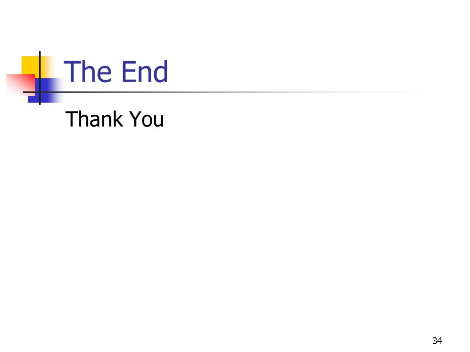 The End Thank You 34