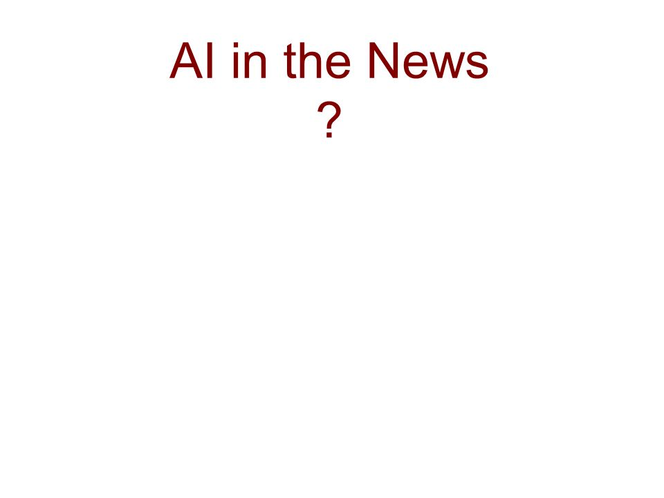 AI in the News