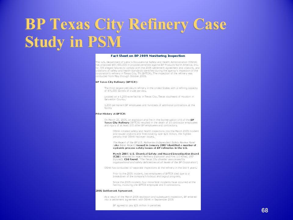 BP Texas City Refinery Case Study in PSM 68