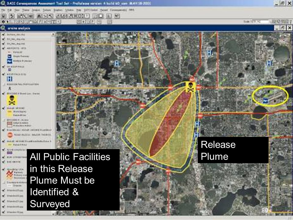 All Public Facilities in this Release Plume Must be Identified & Surveyed Release Plume 80