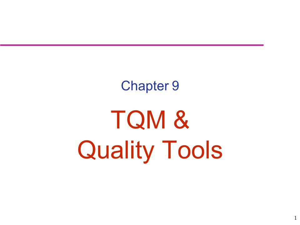 1 Chapter 9 TQM & Quality Tools