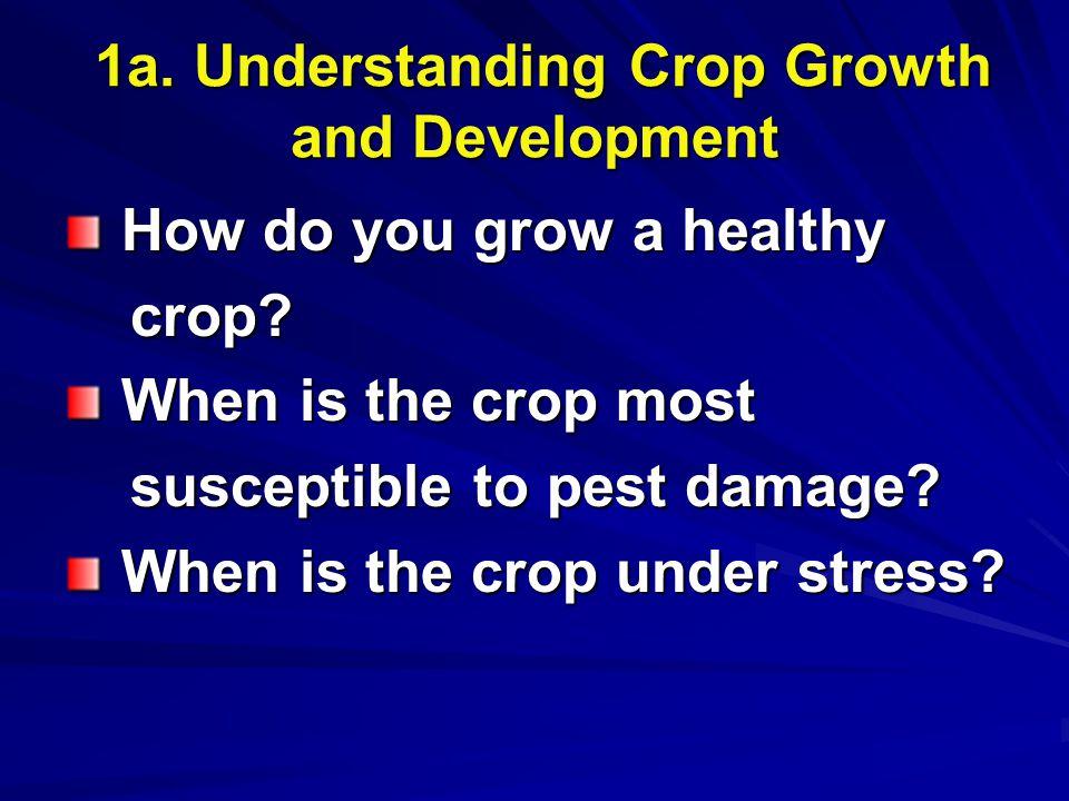 1a.Understanding Crop Growth and Development 1a.