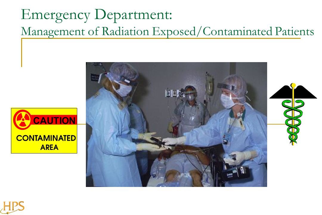 Emergency Department: Management of Radiation Exposed/Contaminated Patients CAUTION