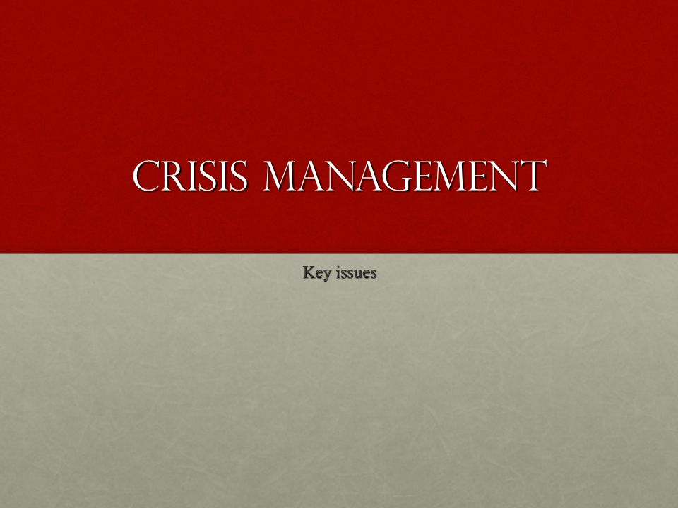 Crisis Management Crisis management is the process by which an organization deals with a major unpredictable event that threatens to harm the organization, its stakeholders, or the general public