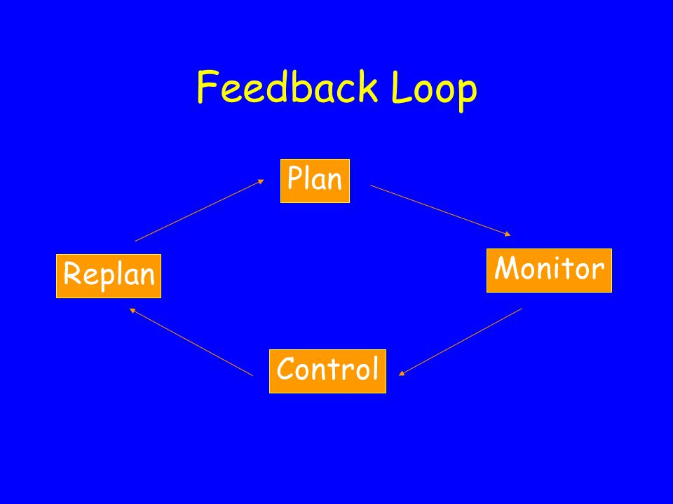 Feedback Loop Plan Monitor Control Replan