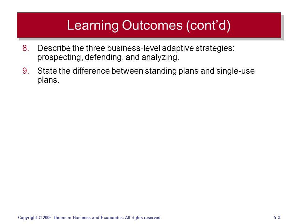 5–45–4Copyright © 2006 Thomson Business and Economics.