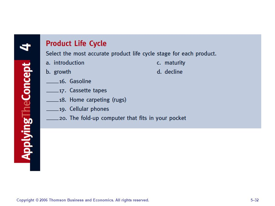 5–32Copyright © 2006 Thomson Business and Economics. All rights reserved.