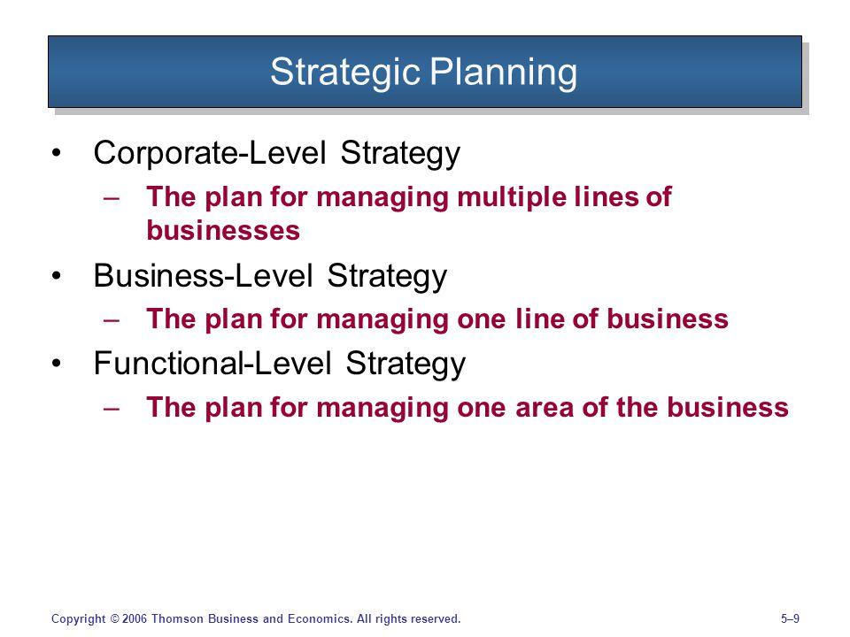 5–10Copyright © 2006 Thomson Business and Economics.
