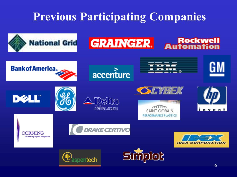 6 Previous Participating Companies