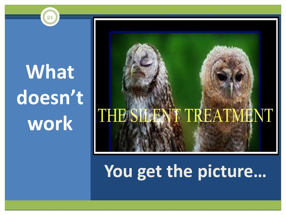 You get the picture… What doesnt work 21