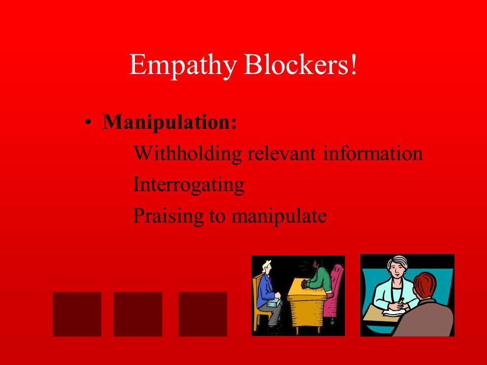 Empathy Blockers.