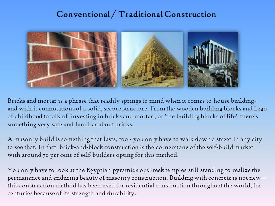 Lets talk about Conventional / Traditional Construction… Knowledge Hub… We at OxyGreen believe in sharing knowledge as well learning anything and everything that is innovative & helpful to the field of Construction as well a hand to save our Mother Earth.