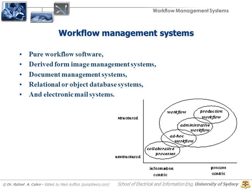 Workflow Management Systems © Dr. Rafael A.