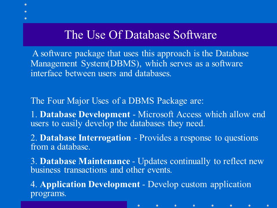 Database Management Approach The Database Management Approach consolidates data records and objects into databases that can be accessed by many differ