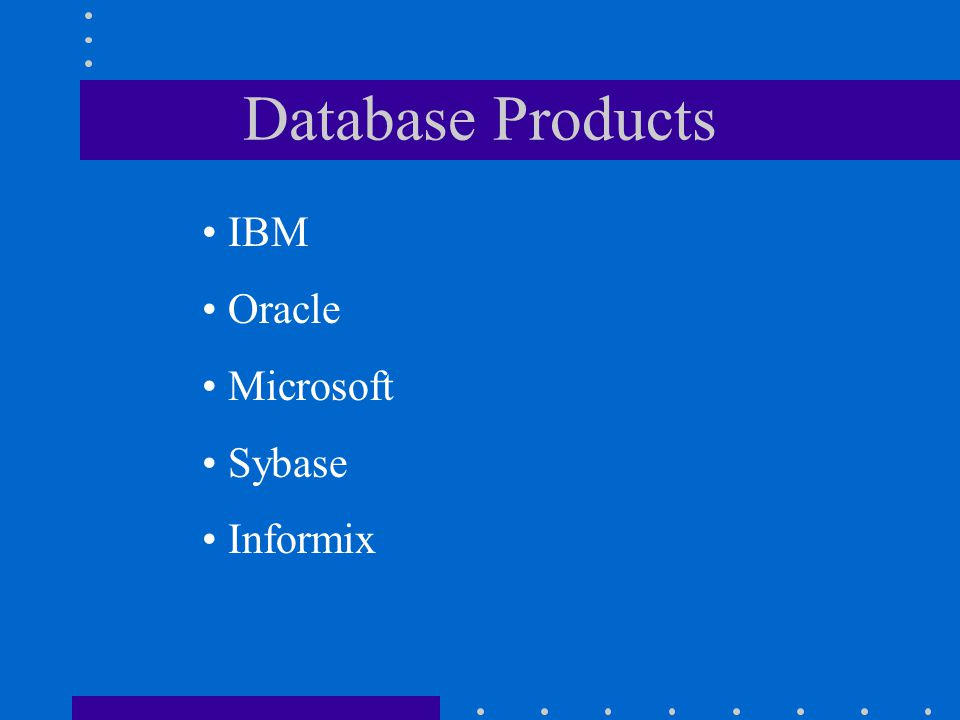 Database Development User Needs Description User Needs Description 1. Data Planning Enterprise Model 2. Requirements Specifications 2. Requirements Sp