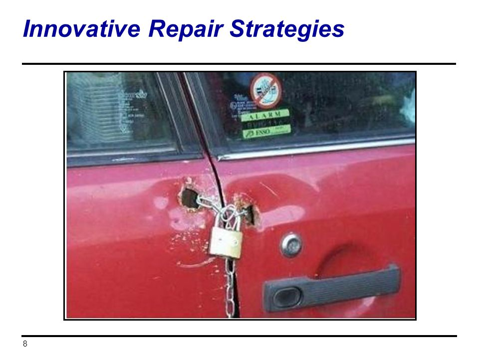 8 Innovative Repair Strategies