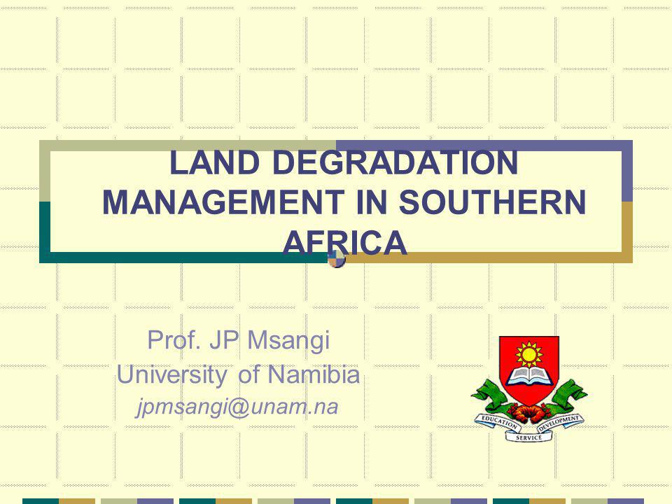 Degradation (cont) Others include: brain drain which may cripple viable planning and natural resource utilization and