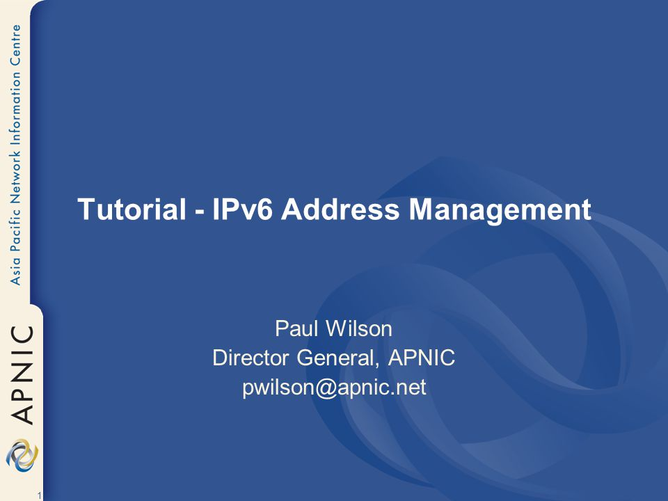2 Tutorial Overview Introduction to IP Address Management Rationale for IPv6 IPv6 Addressing IPv6 Policies & Procedures References