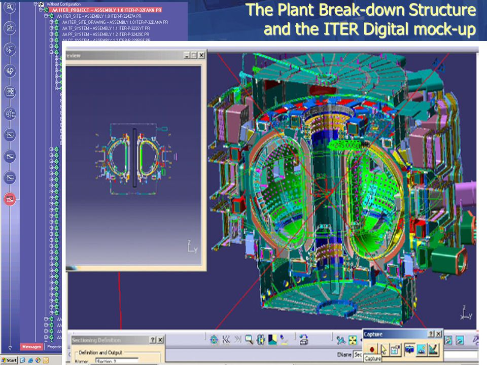 The Plant Break-down Structure and the ITER Digital mock-up All systems and parts of the ITER project are organised around a tree structure called PBS
