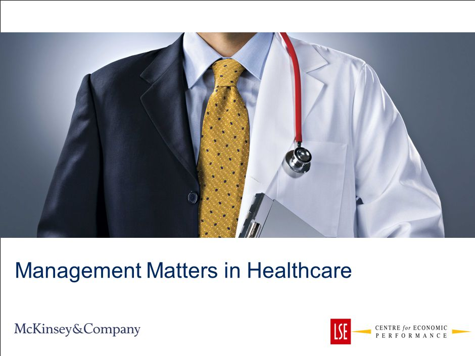 Management Matters in Healthcare