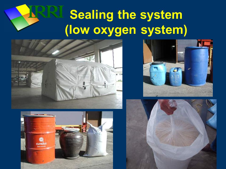 :: presentation title Sealing the system (low oxygen system)