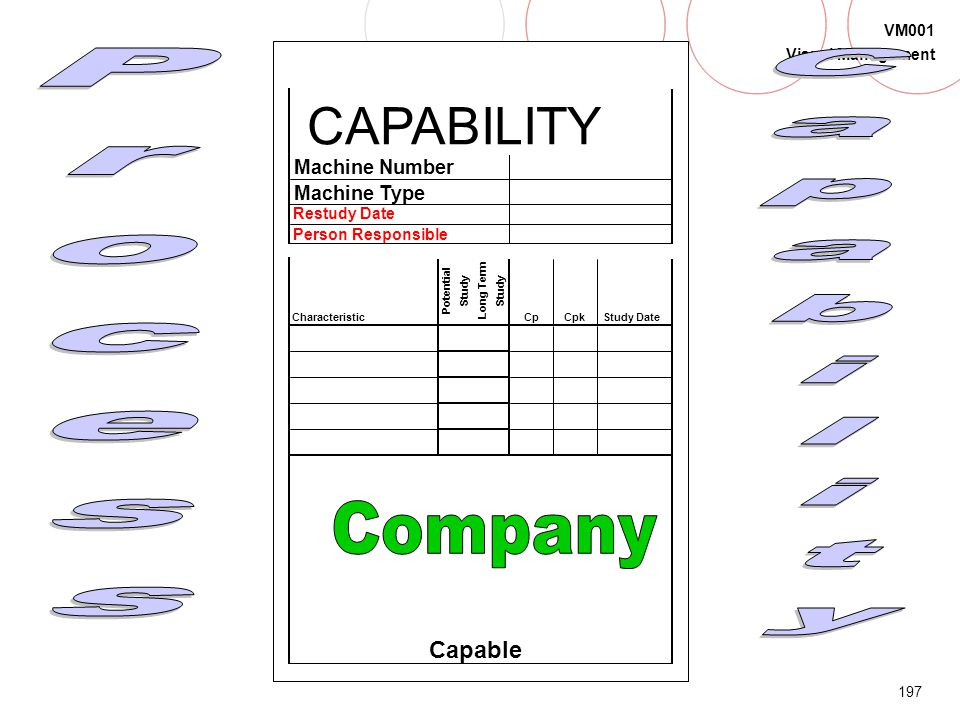 196 VM001 Visual Management Process Capability