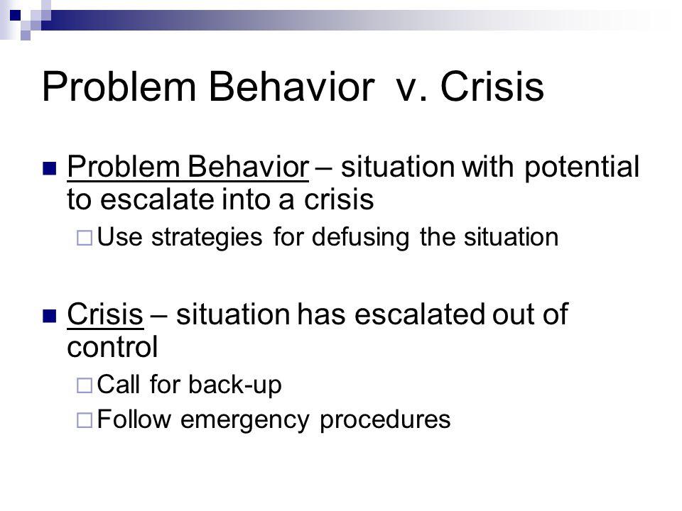 Problem Behavior v.