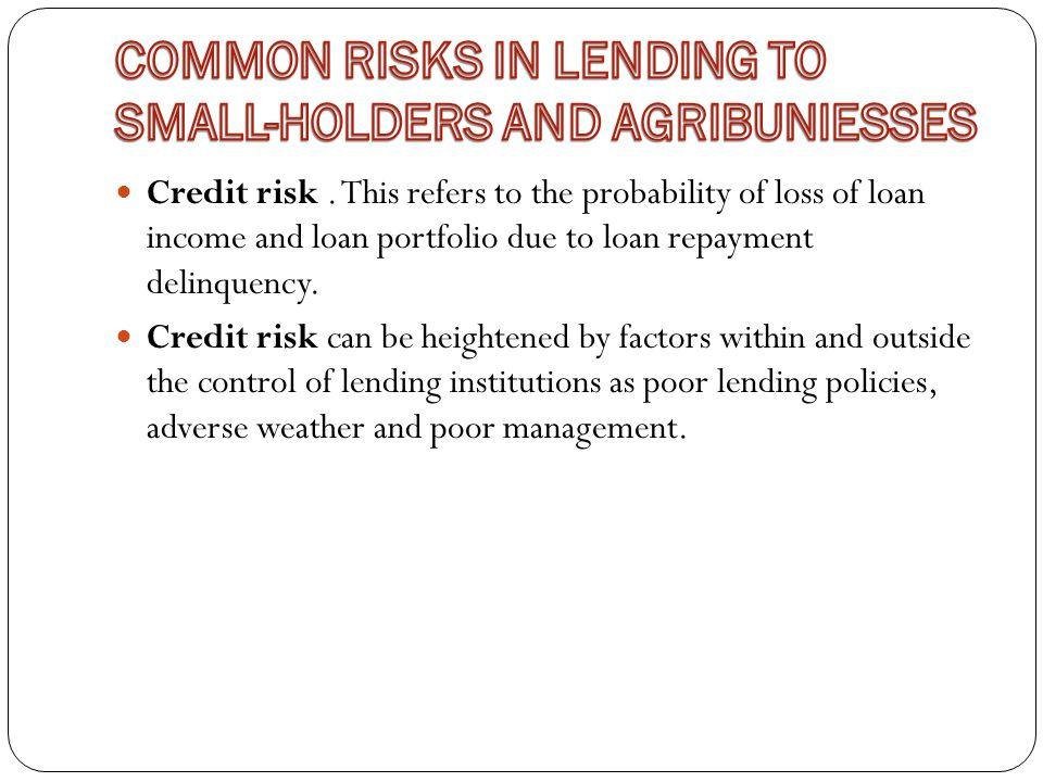 Credit risk.