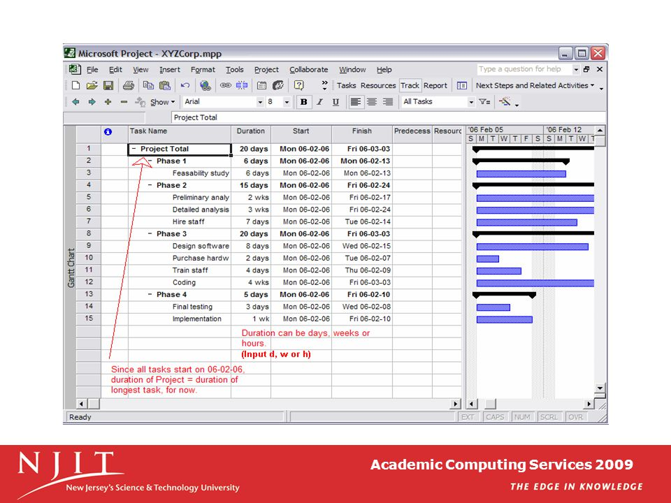 Academic Computing Services 2009