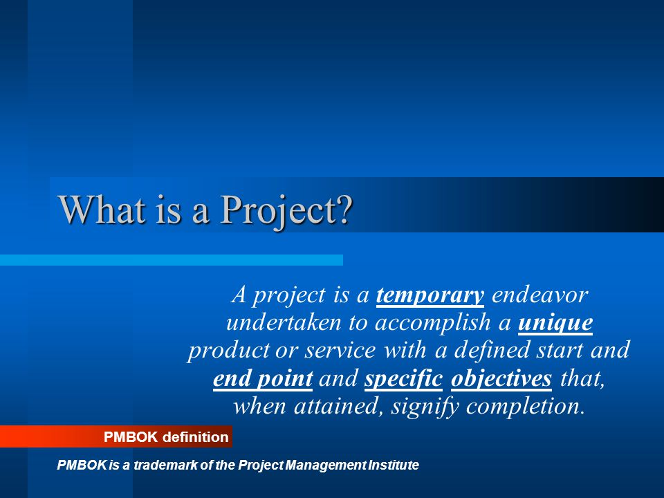 Project Planning Scope Planning; Specifies the Requirements for the project Preparing the Work Breakdown Structure Project Schedule Development Resource, Budget, Procurement, Quality and Communication plans are created