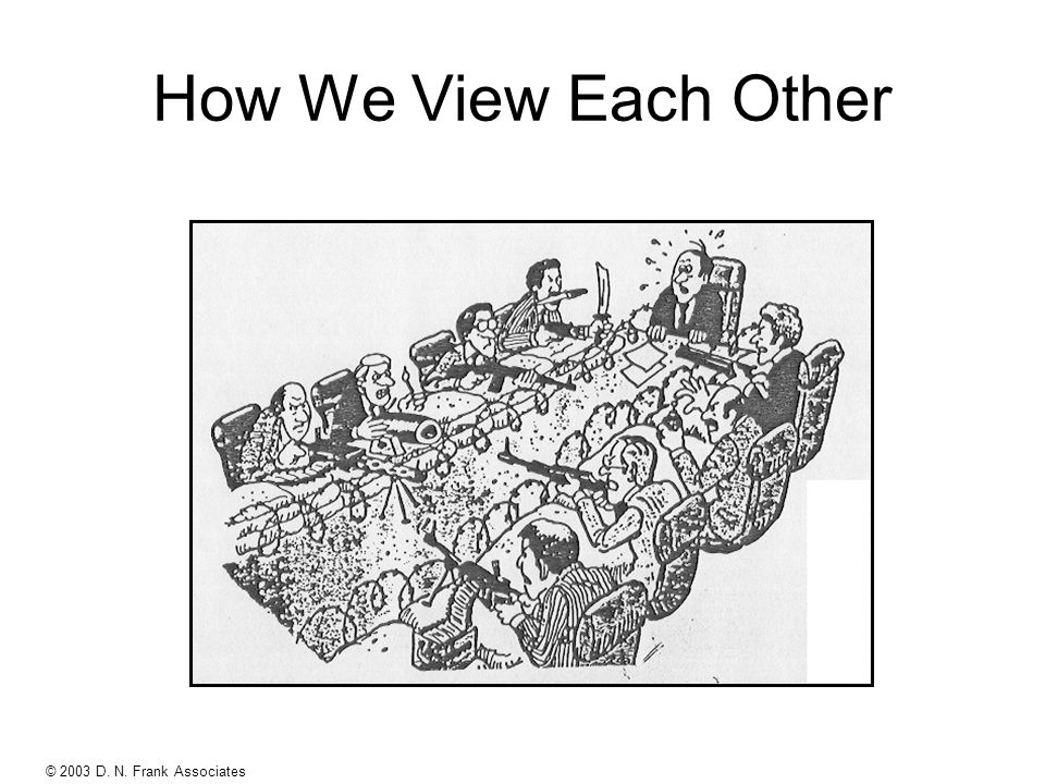 © 2003 D. N. Frank Associates 95-029-Rev.C How We View Each Other