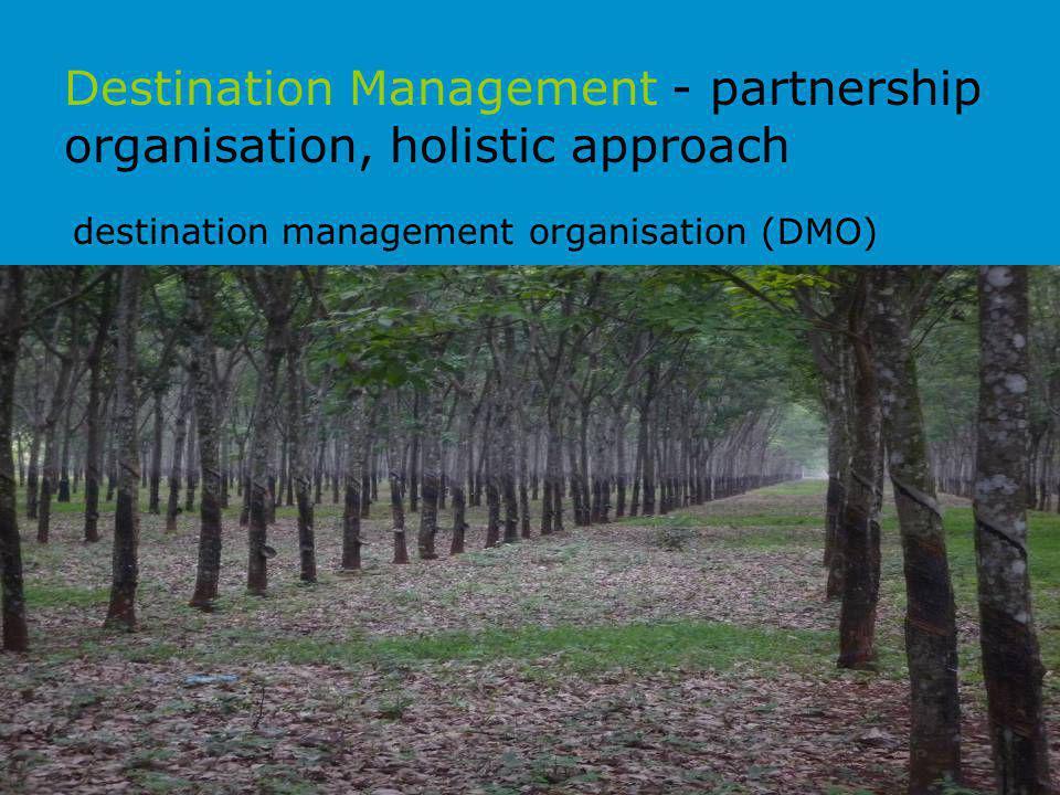Destination Management - partnership organisation, holistic approach destination management organisation (DMO)