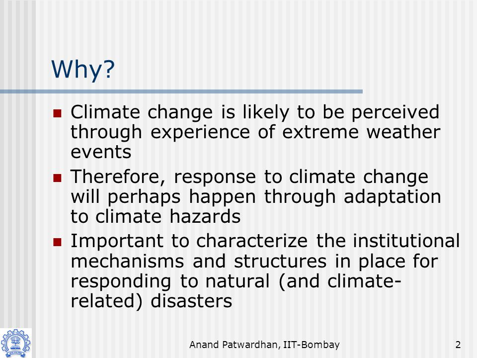 Anand Patwardhan, IIT-Bombay3 Mortality due to natural hazards 1990 - 2000