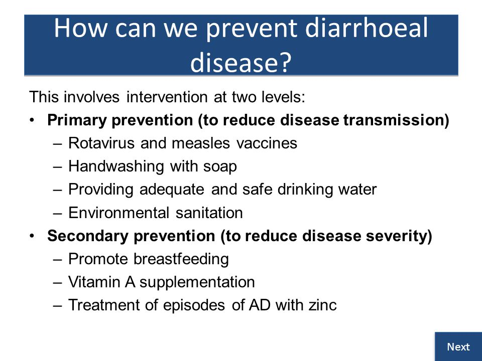 How can we prevent diarrhoeal disease.