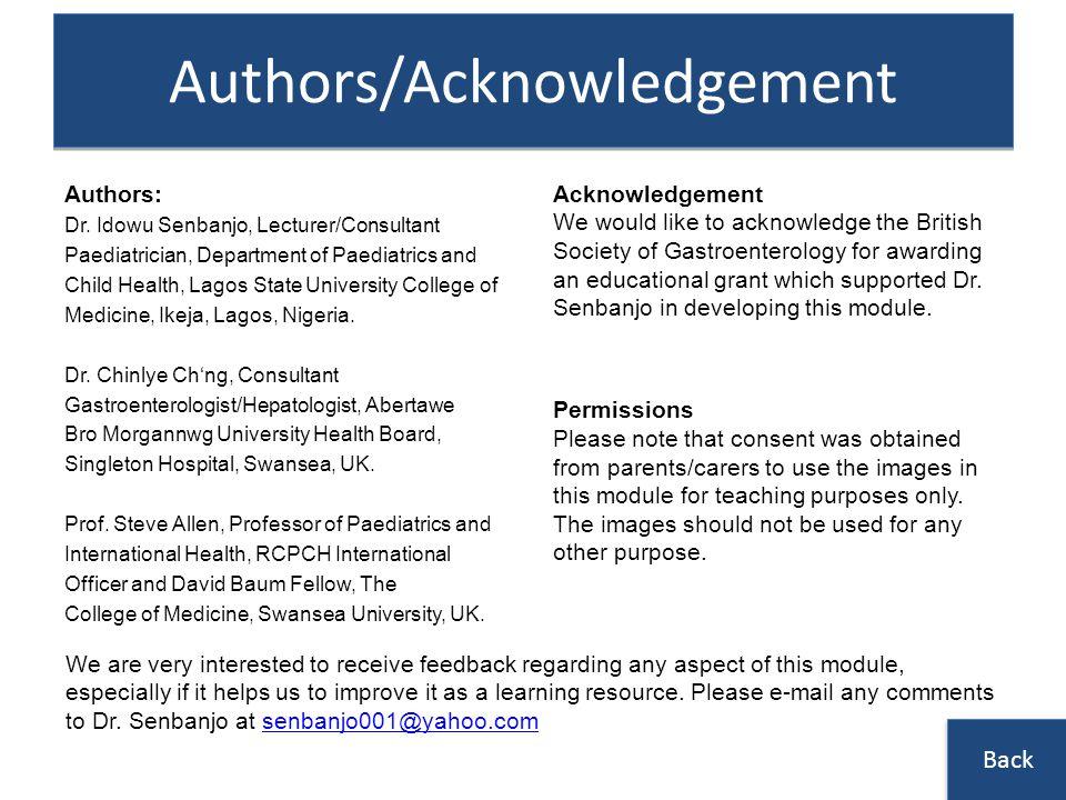 Authors/Acknowledgement Authors: Dr.