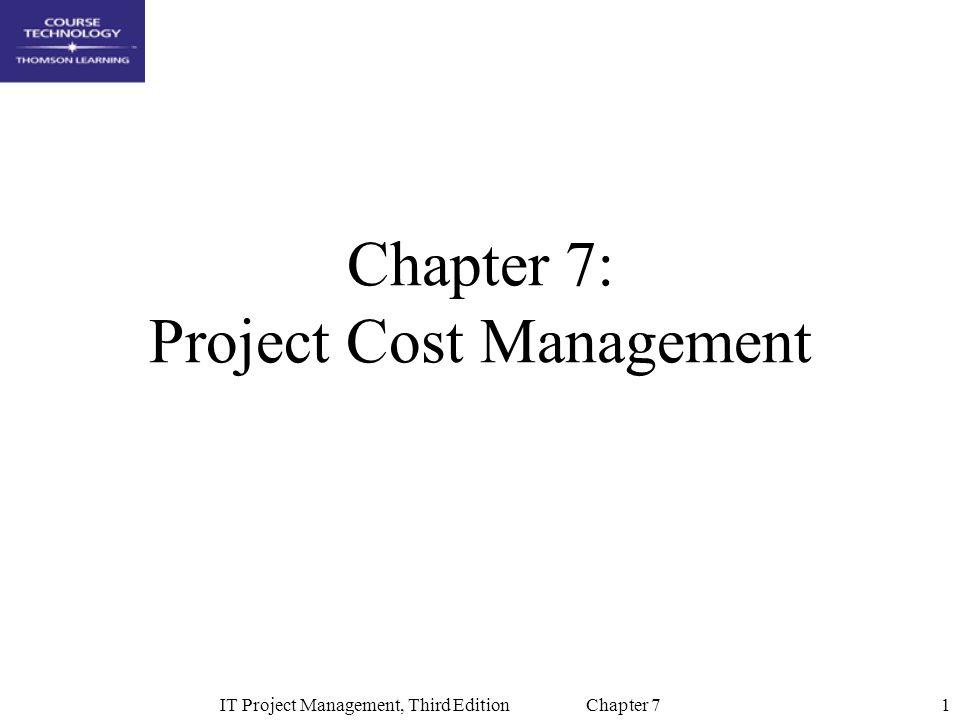 32IT Project Management, Third Edition Chapter 7 Sample Enterprise Project Management Screen