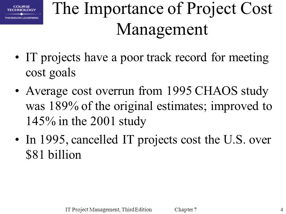 5IT Project Management, Third Edition Chapter 7 What Went Wrong.