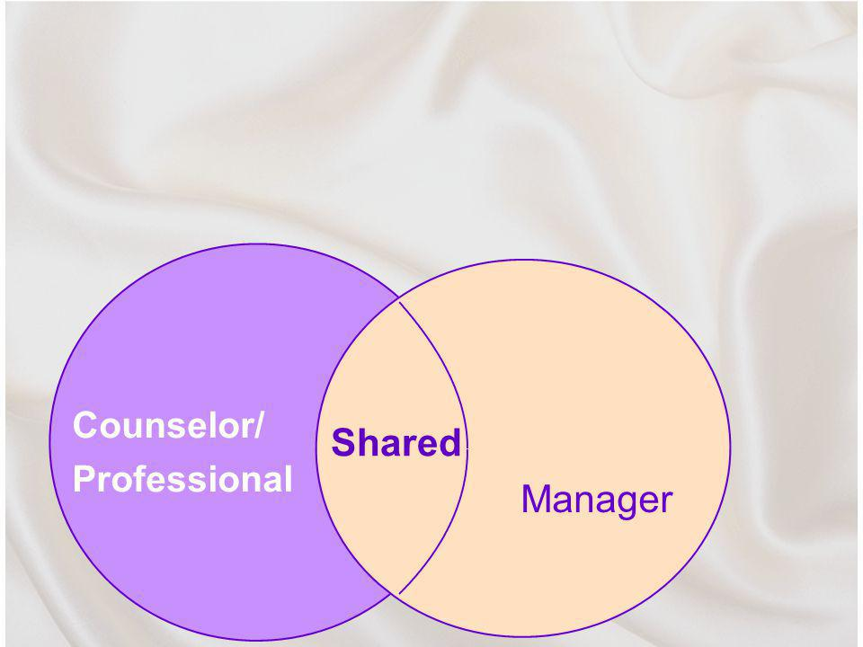Counselor/ Professional Manager Shared