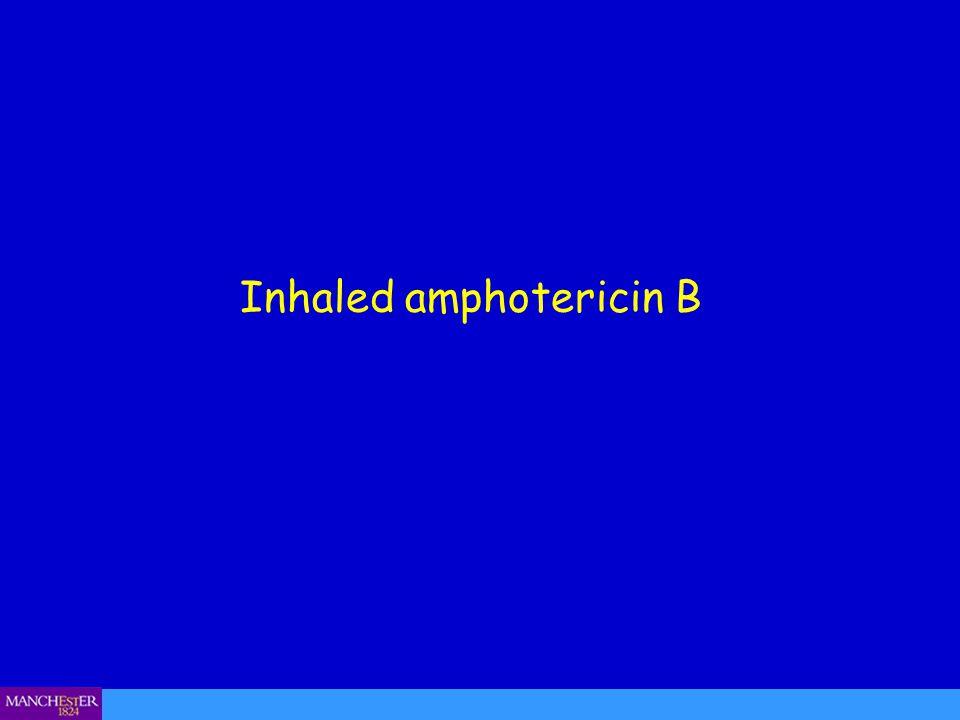 Inhaled amphotericin B
