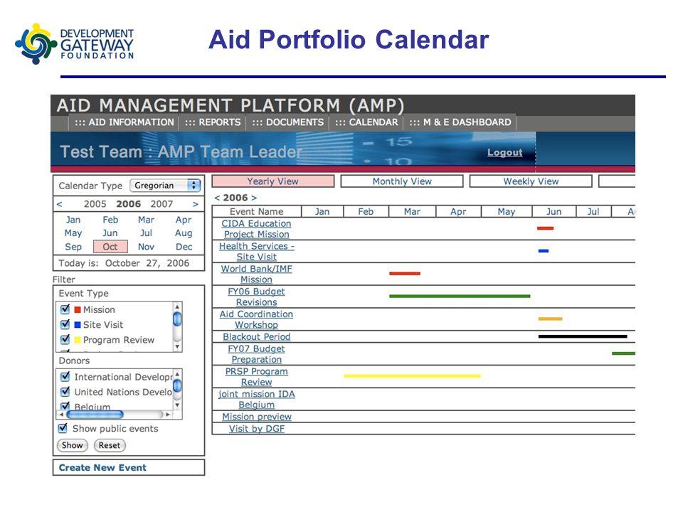 Aid Portfolio Calendar