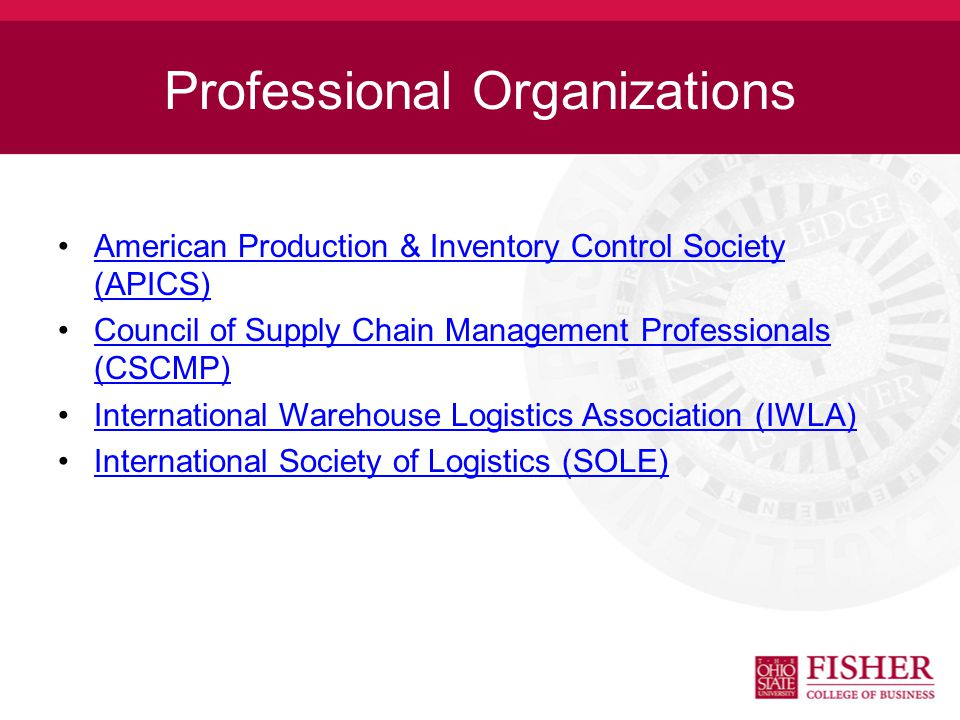 What Does the OSU Logistics Association Do? The Logistics Association is a not-for-profit professional organization which provides leadership in devel