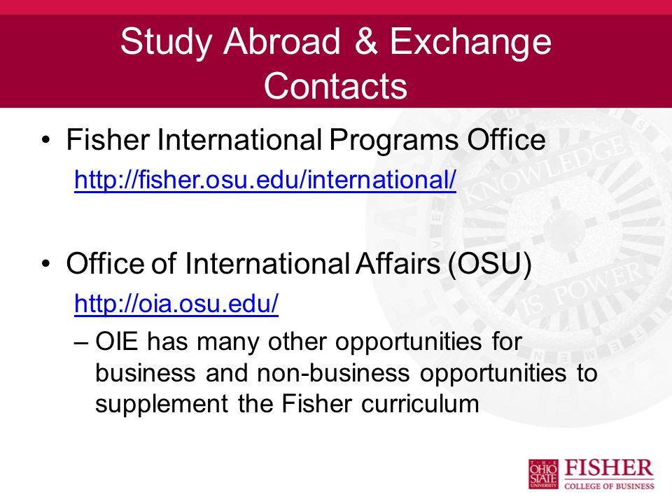 Fisher International Opportunities Honors / Scholars trips Emerging Markets Field Study Student Exchange Programs International Internships (EUSA) plu