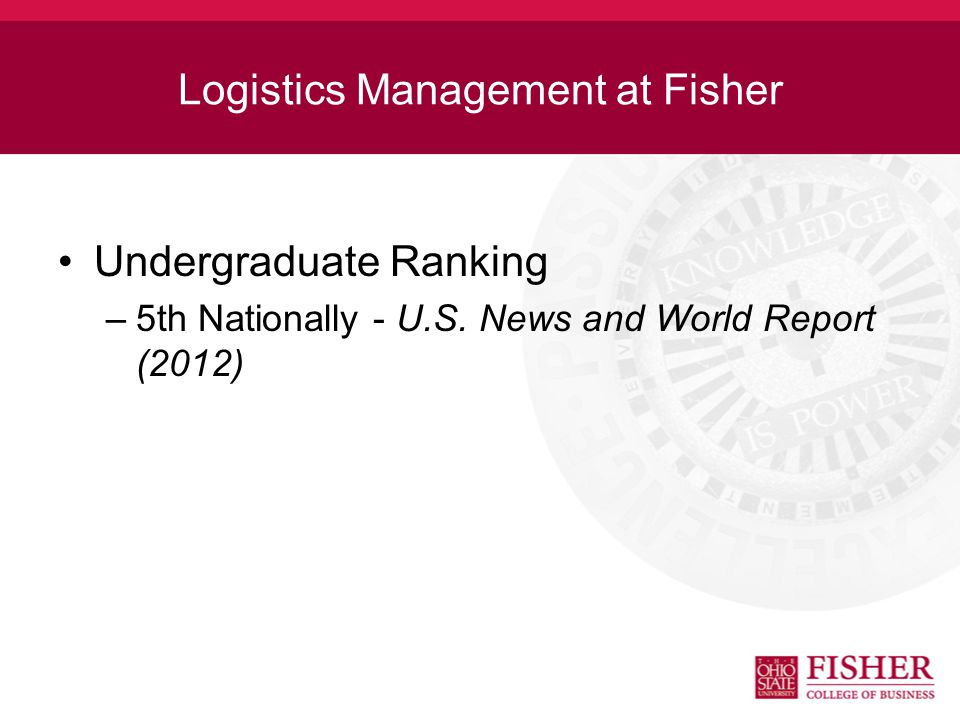 Preparation for Logistics Management A college education with a good grounding in mathematics, statistics and logistics is important for professional