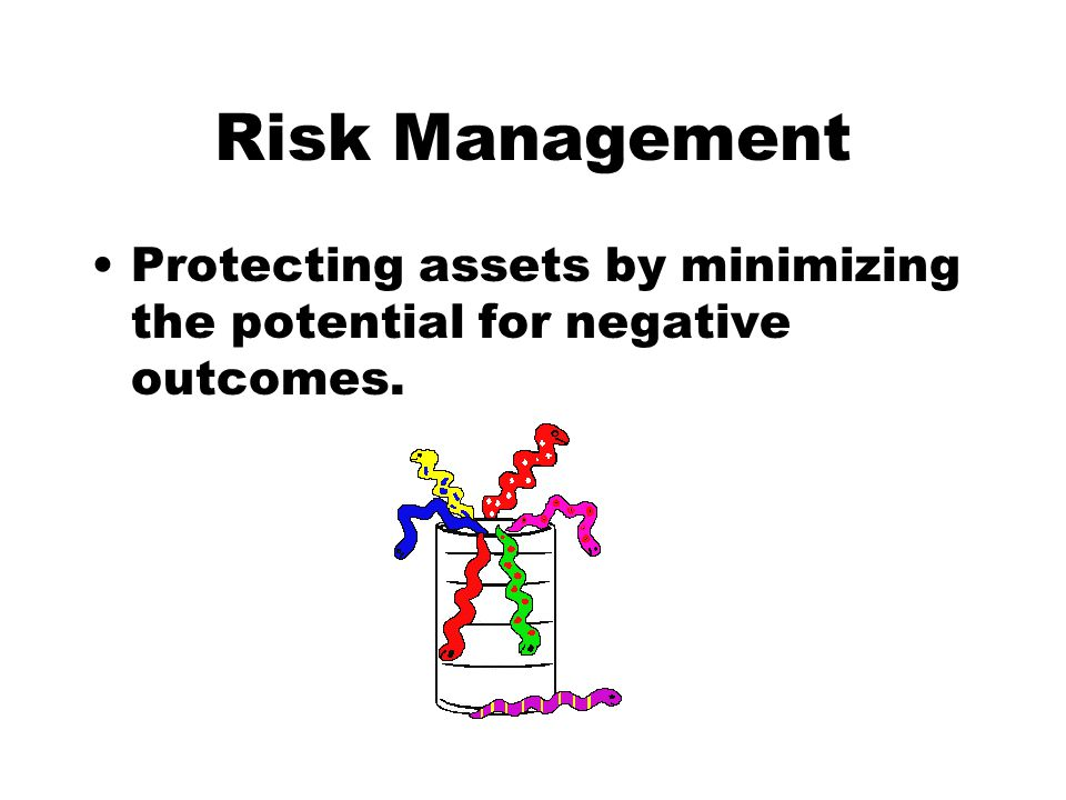 Risk Management Protecting assets by minimizing the potential for negative outcomes.