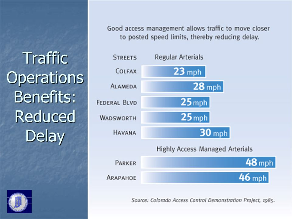 Traffic Operations Benefits: Reduced Delay