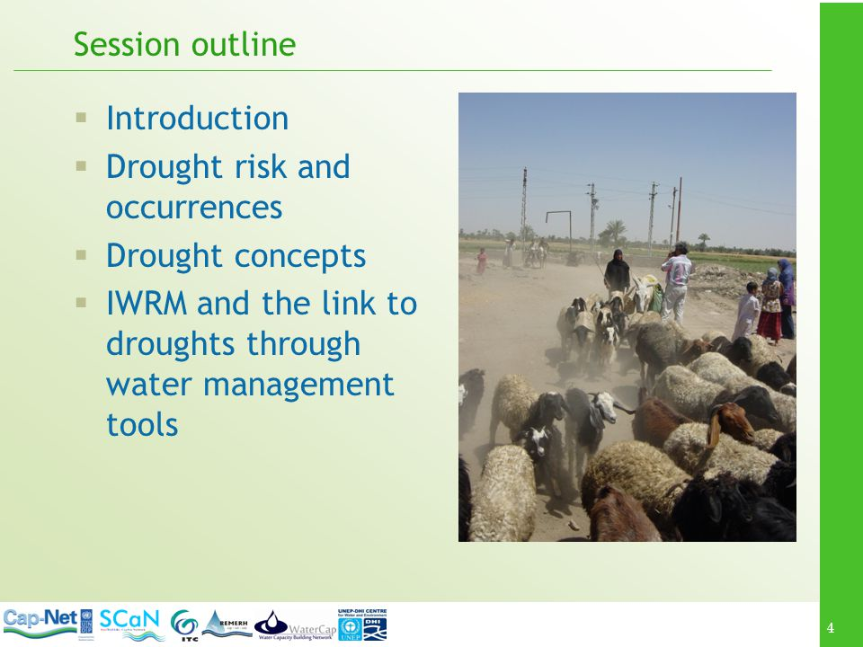 5 Introduction An introductory module on: what droughts are; their importance in water management; where and how they occur; what makes areas susceptible to droughts; and what sustainable water management can contribute to mitigation and drought risk management