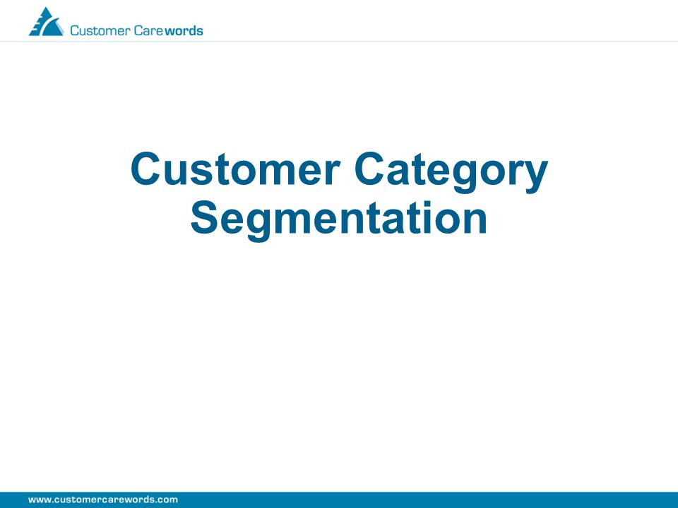 Customer Category Segmentation