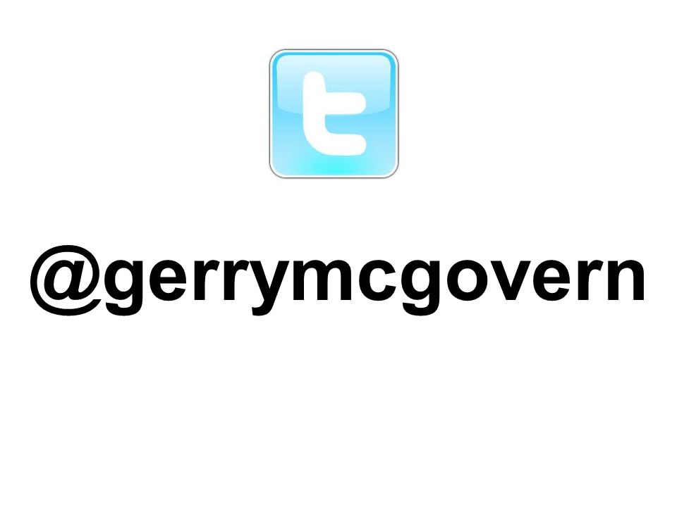 @gerrymcgovern