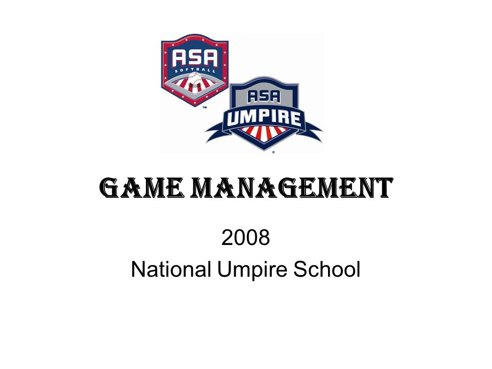Game Management 2008 National Umpire School