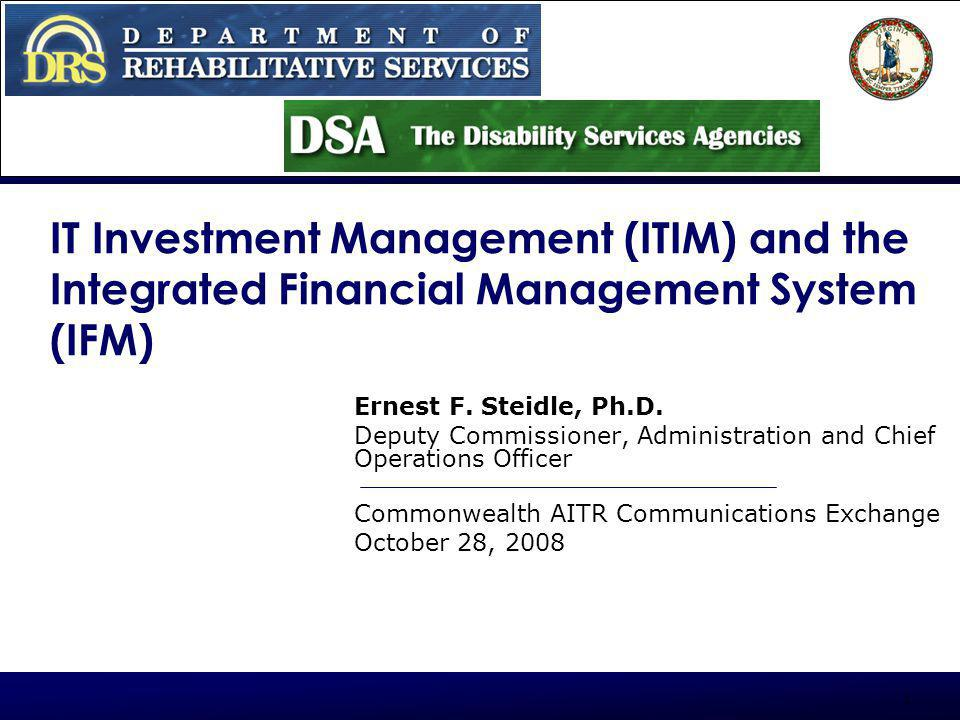 12 Commonwealth ITIM Standard WHAT IS THE ITIM STANDARD.